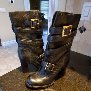 Tory Burch black leather boots